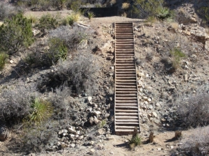 41 Steps Staircase a Quarter Mile From the Trailhead